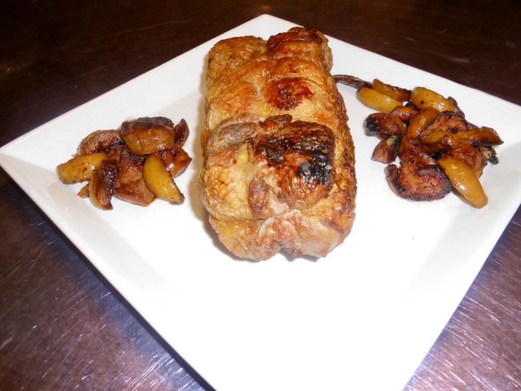 filetto di maiale e contorno